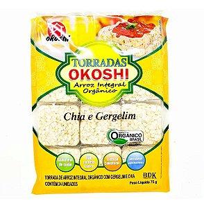 Torradas De Arroz Integral Orgânico Com Chia e Gergelim (24 unidades) - 75g - Okoshi