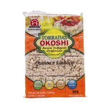 Torradas De Arroz Integral Orgânico Com Quinoa e Linhaça (24 unidades) - 75g - Okoshi