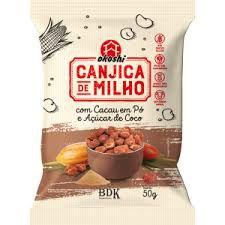 Canjica de Milho Com Cacau em Pó e Açúcar de Coco - 50g - Okoshi