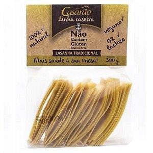 Massa de Lasanha Tradicional Sem Glúten - 300g - Casarão