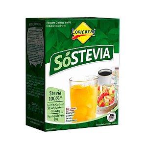 Adoçante Dietético em Pó SóStevia - 30g (50 Sachês) - Lowçucar