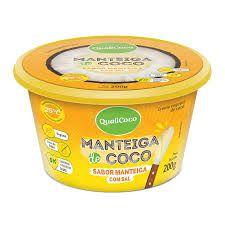Manteiga de Coco Sabor Manteiga Com Sal - 200g - Qualicoco
