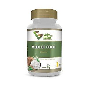Óleo de Coco Premium - 60 Cápsulas (1000mg) - Vida em Grãos