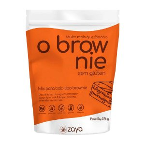 Mistura para Brownie Sem Glúten - 576g - Zaya Flour