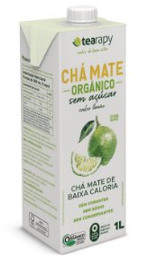 Chá Mate Orgânico Sem Açúcar Sabor Limão - 1L - Tearapy