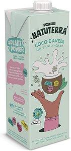 Bebida Vegetal Coco e Aveia Sem adição de Açúcar - 1L - Natuterra