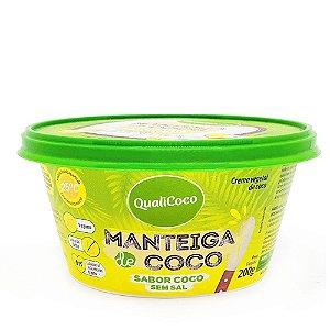 Manteiga de Coco Sabor Coco Sem Sal - 200g - Qualicoco