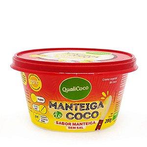 Manteiga de Coco Sabor Manteiga Sem Sal - 200g - Qualicoco