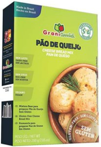 Mistura para Pão de Queijo Sem Glúten e Vegano - 200g - Grani Amici