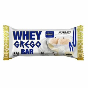 Barra Protéica Whey Grego Bar Sabor Beijinho - 40g - Nutrata