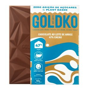 Chocolate ao Leite de Arroz 47% Cacau - 60g - GoldKo