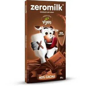 Chocolate 40% Cacau - 80g - Zeromilk