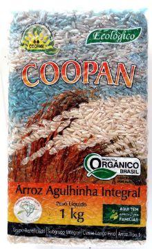Arroz Agulhinha Integral Orgânico - 1kg - Coopan