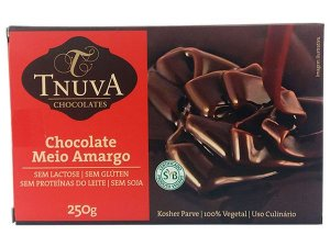 Chocolate Meio Amargo - 250g - Tnuva