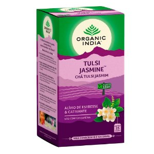 Chá Tulsi Jasmim - 25 sachês - Organic India