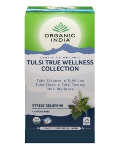 Chá Tulsi Wellness Collection - 25 sachês - Organic India