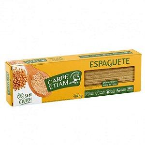 Macarrão de Grão de bico e arroz integral Espaguete - 400g - Carpe Etiam