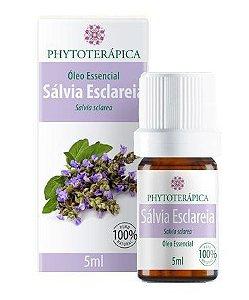 Óleo Essencial Sálvia Esclareia (Salvia sclarea) - 5 ml - Phytoterápica