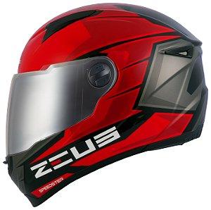Capacete Zeus 811 EVO Speedster Vermelho AL11 Cinza