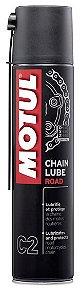 Spray Graxa para Corrente Chain Lube Road C2 400ml - Motul