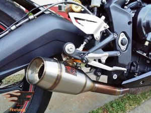 Escapamento Esportivo Triumph Daytona 675R Flame Firetong