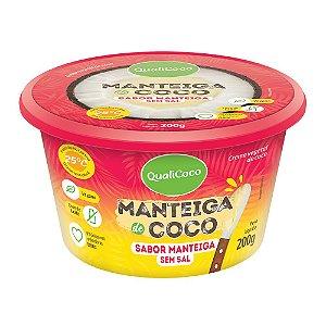 Manteiga de Coco Sabor Manteiga Sem Sal QualiCoco 200g