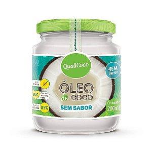 Óleo de Coco Sem Sabor QualiCoco 200mL