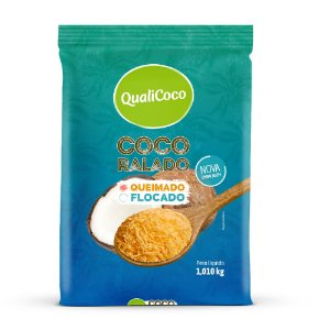 Coco Ralado Queimado Golden 1,010kg QualiCoco