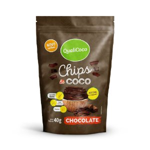 Chips de Coco Chocolate QualiCoco 40g