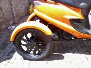 Kit Acessório Triciclo Burgman 125cc Para Deficientes Físicos