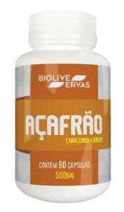 Açafrão Suplemento Natural 60 Caps 500mg