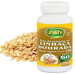 Óleo de semente de Linhaça Dourada 60 cps 700mg