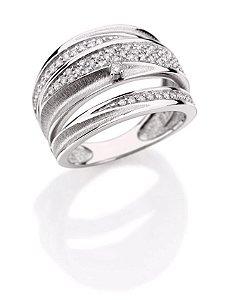 Anel Brigitte em Ouro branco 18K com Diamantes
