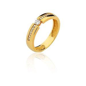 Anel com diamantes A47243276