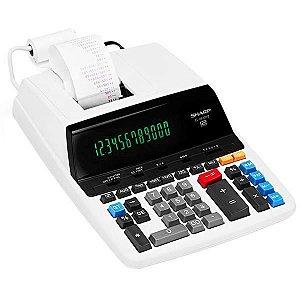 Calculadora com Impressora Sharp EL-2630PIII com Suporte para Papel 120V - Branca