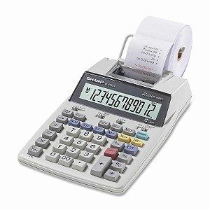 Calculadora com Impressora Sharp EL-1750V com Suporte para Papel a Pilha - Branca