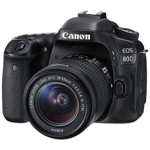 "Câmera Canon DSLR EOS 80D (W) LCD 3.0""/ 24.2MP / Lente EF-S 18-55 mm"