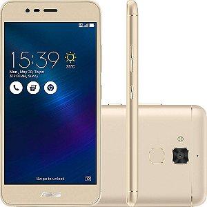 """Asus ZenFone 3 Max ZC520TL Dual SIM 16GB de 5.2"""" 13MP/5MP OS 6.0 - Dourado"""