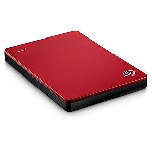 HD Externo Seagate Backup Plus Slim 1TB USB 3.0/2.0 - Vermelho