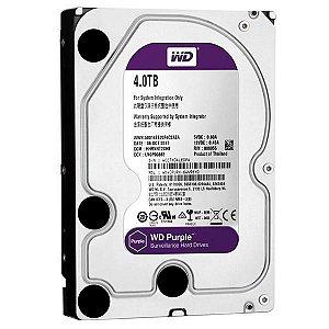 HD Interno de 4TB WD Purple WD40PURX para Sistema de Vigilância - Prata