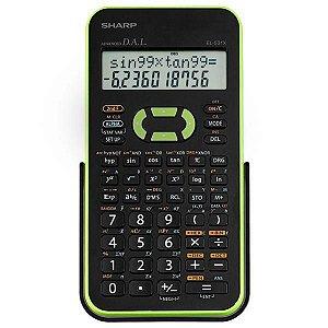 Calculadora Científica Sharp EL-531XB-GR com 272 Funções - Preta/Verde
