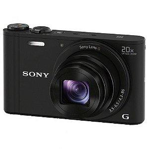Câmera Sony DSC-WX350 20X/WIFI/4K - Preto