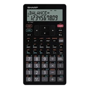 Calculadora Financeira Sharp EL-738FB - Preto