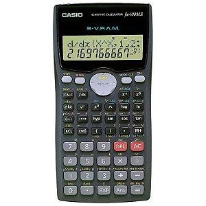 Calculadora Científica Casio FX-100MS com 300 Funções - Cinza Escuro/Preto