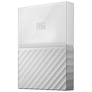 """HD Externo de 2TB WD My Passport WDBS4B0020BWT-0B 2.5"""" USB 3.0 - Branco"""