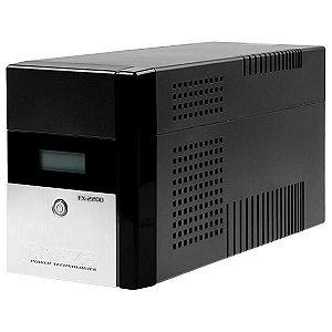 Nobreak Forza FX-2200LCD-U 2200VA de 1200W com Tela LCD/Proteção Nível 5 220V - Preto