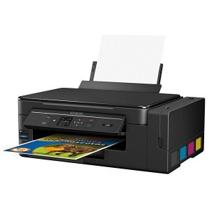 Impressora Epson EcoTank L495 Impressora, Copiadora e Scanner USB Wireless Visor LCD – Preto