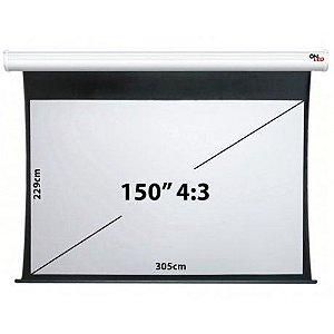 """Tela de Projeção Onled Elétrica de 150"""" - 4:3 (220V-50Hz)"""