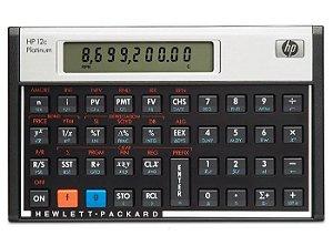 Calculadora Financeira HP 12c Platinum com 130 Funções - Preta/Prata
