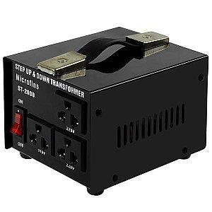 Estabilizador de Energia Microfins ST-2000 de 2.000 watts Bivolt - Preto